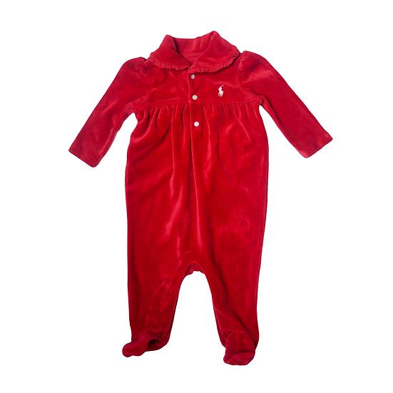 Ralph Lauren Red Velvet Coverall