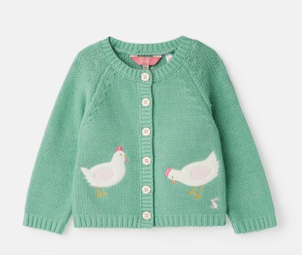 Joules Dorrie Green Kitted Cardigan