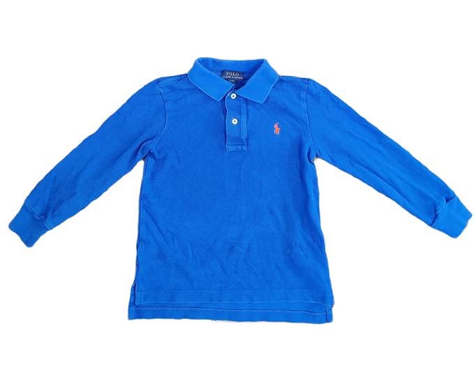 Ralph Lauren blue long sleeve aertex t-shirt