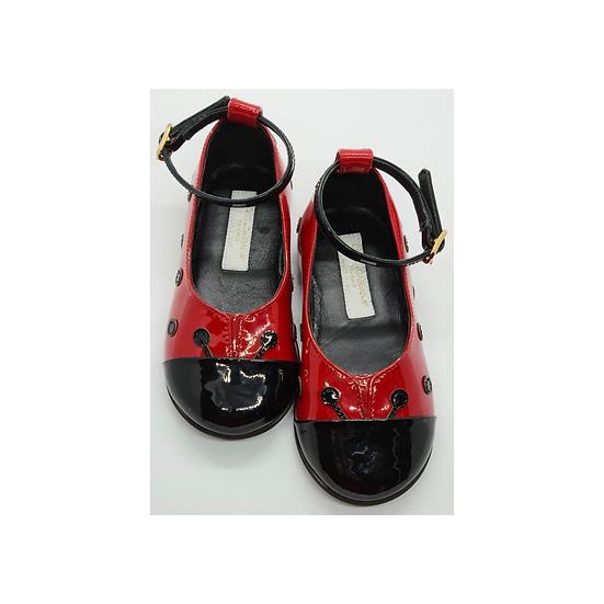 Dolce & Gabbana ladybird patent shoes