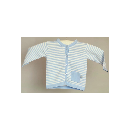 Hust & Claire Blue and White Stripped Cardigan