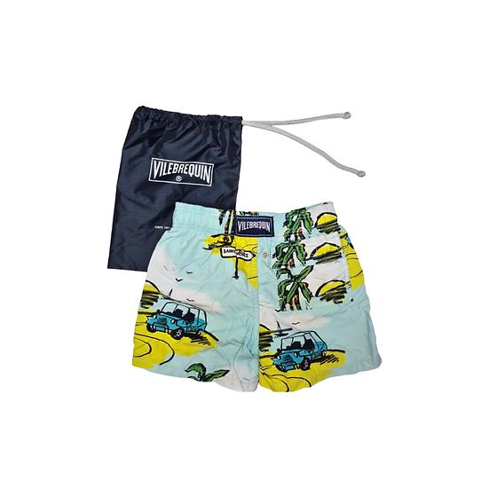 Vilebrequin Saint Tropez Shorts Blue and Yellow