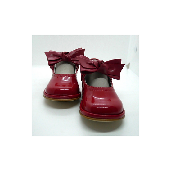 Borboleta Red Patent Mary Jane with Bow