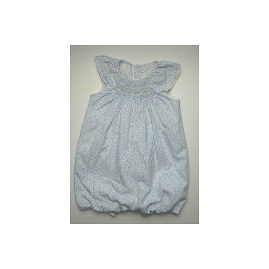 The Little White Company blue and white romper