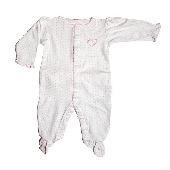 Kissy Kissy White Babygrow with pink hearts