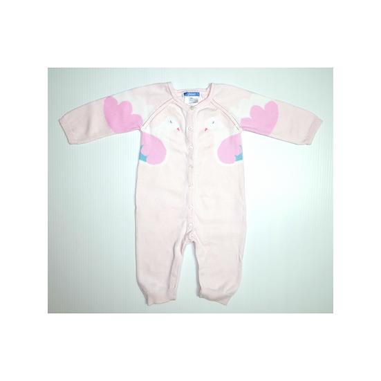 Jacadi Pink Babygrow with Doves