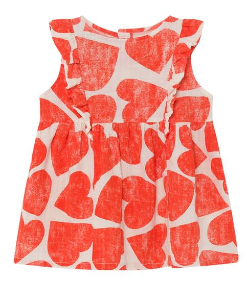 Bobo Choses Heart Dress Red