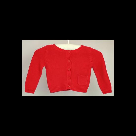Jacadi Red Knit Cardi
