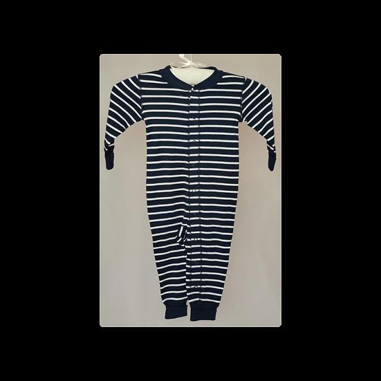 Polarn O Pyret navy & white stripe Baby Grow