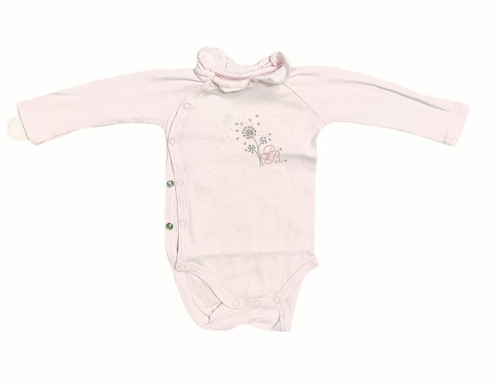 Petit bateau pink vest with frill collar