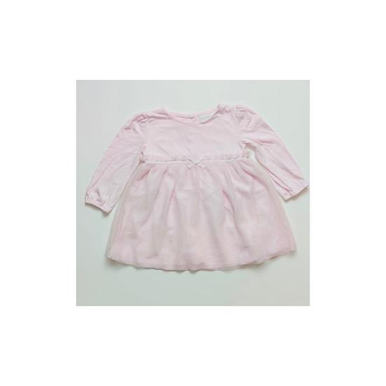 The Little White Company Pink Jersey Long Sleeve Tutu Dress