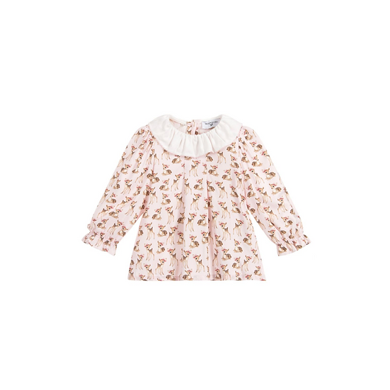 Monnalisa babys pink viscose blouse