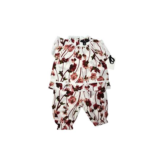 Victoria Beckham for Target Toddler Girls' Blush Floral Ruffle Trim