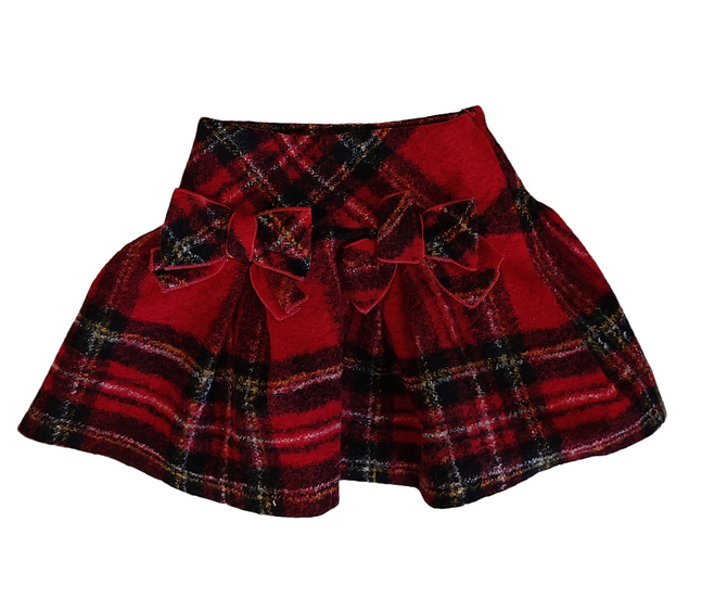 Balloon Chic Red Tartan Skirt