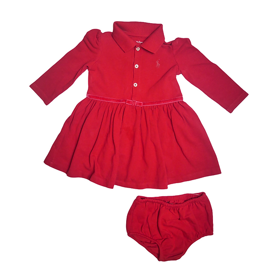 Ralph Lauren Red dress with bloomers
