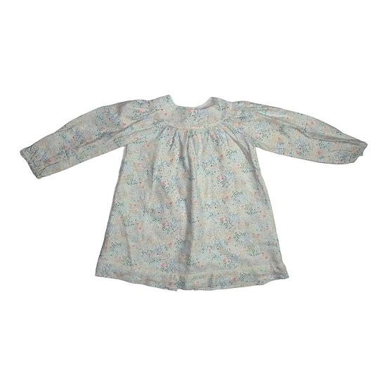 Tartine et Chocolat Button Back Long Sleeve Floral Dress