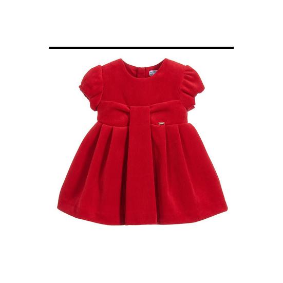 Mayoral Red Corduroy Dress