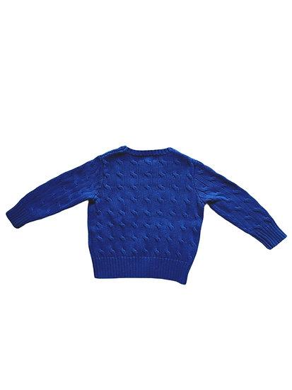 Ralph Lauren Royal Blue Cable Knit Jumper