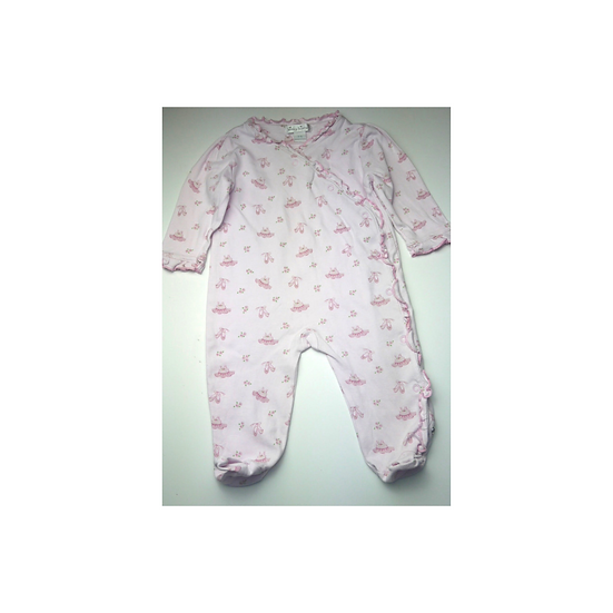 Kissy Kissy Pink Pima Cotton Babygrow with ballet shoes
