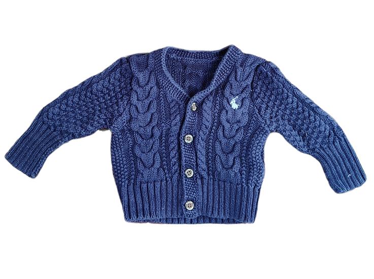 Ralph Lauren Cable Knit Navy Cardigan