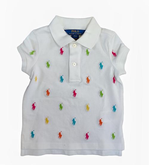 Ralph Lauren t-shirt with multicolor ponie emblems