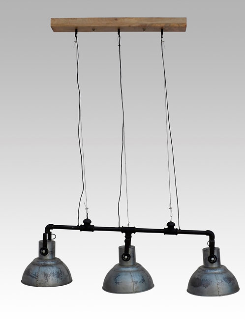 Industriële lamp met 3 spots