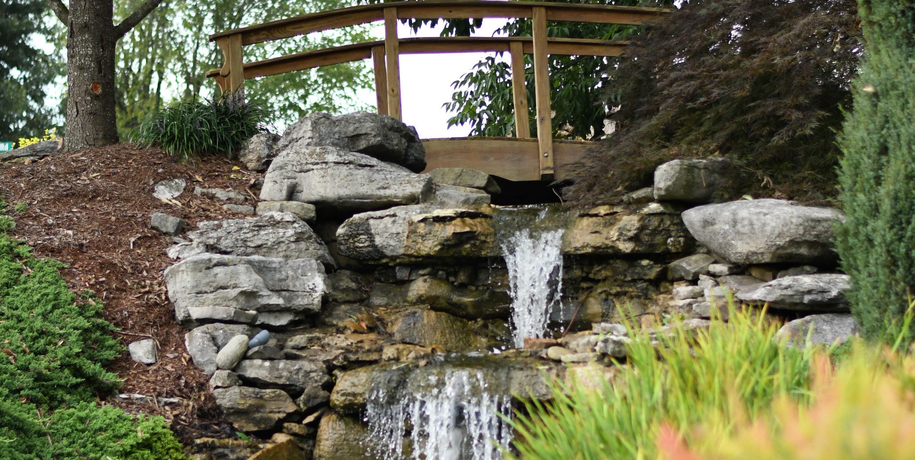 Fountain and Waterfall