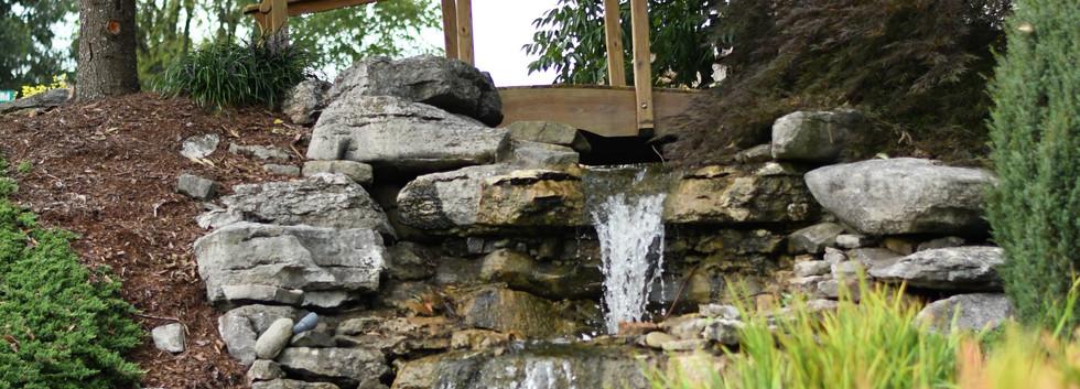 Fountain and Waterfall