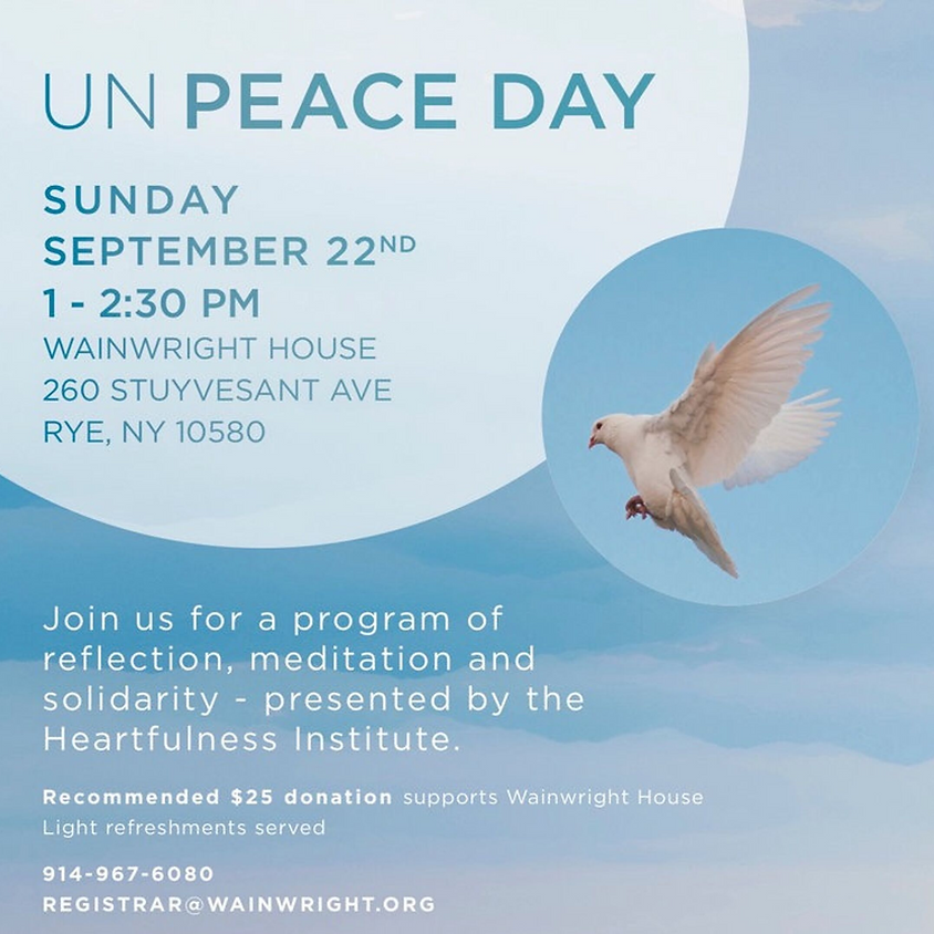 Commemorate the UN International Day of Peace.