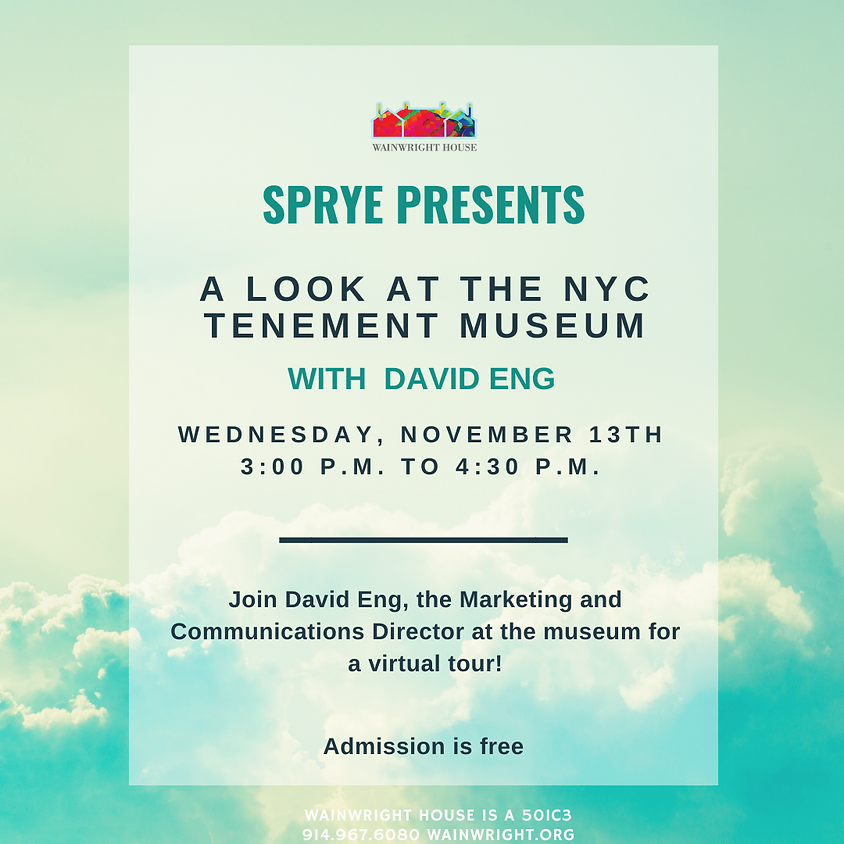 SPRYE Presents: A Look at the NYC Tenement Museum