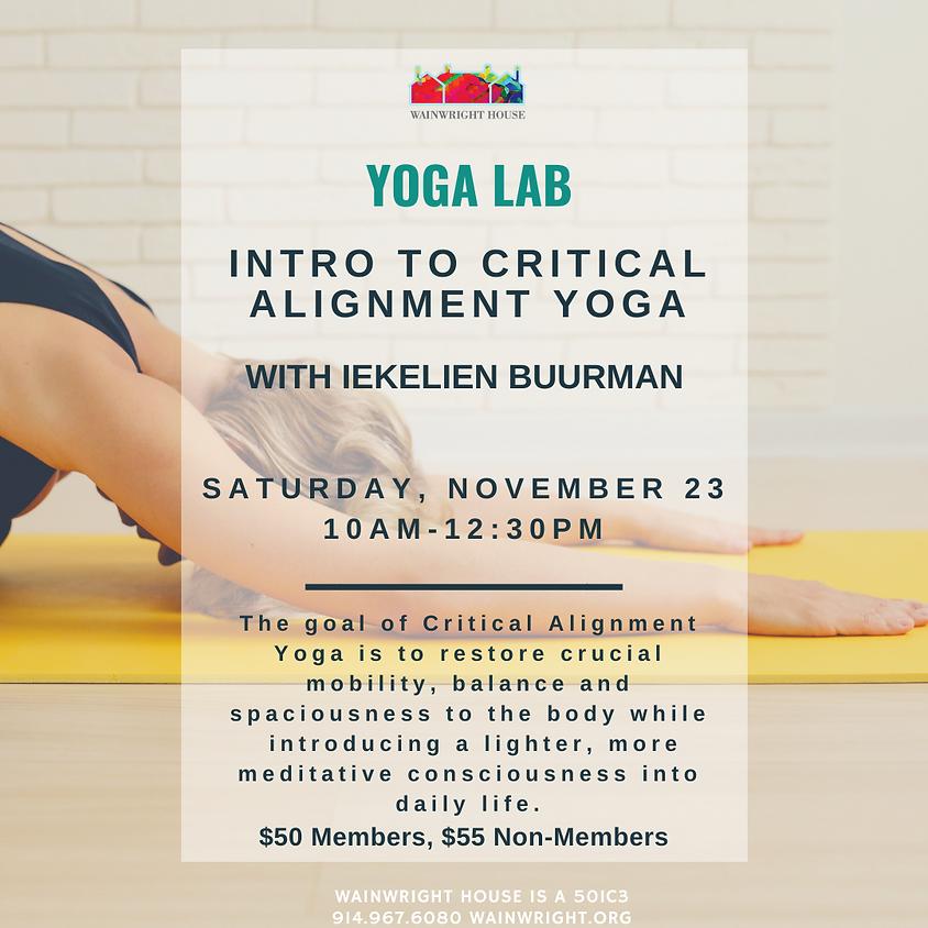 Yoga Lab: Intro to Critical Alignment Yoga
