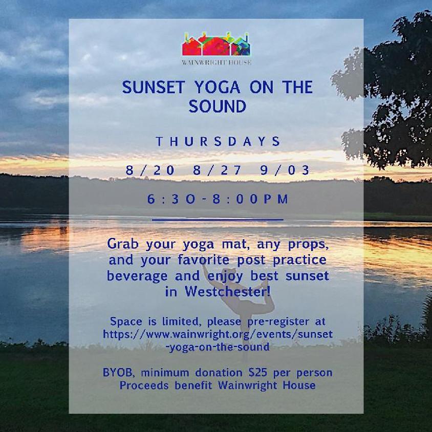 Sunset Yoga on the Sound 8/27