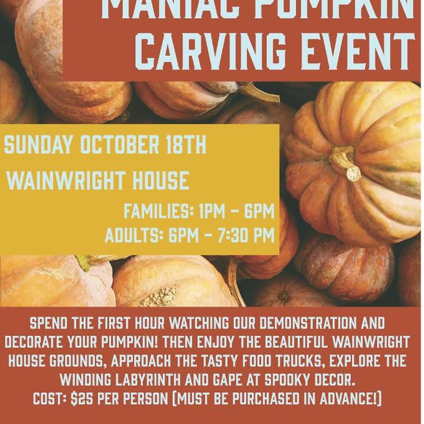 Maniac Pumpkin Carving Event