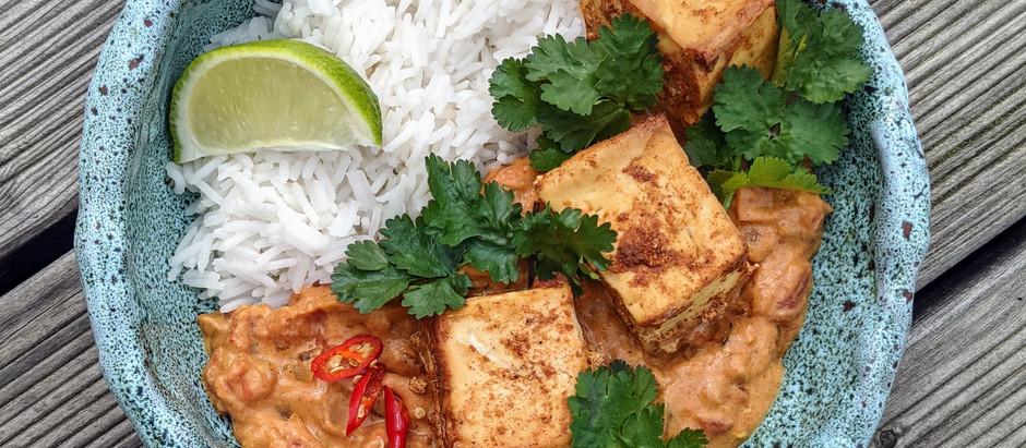 Indické tofu s rajčatovou omáčkou