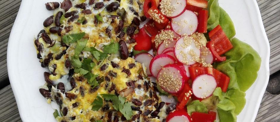Fazole ve vaječné omeletě