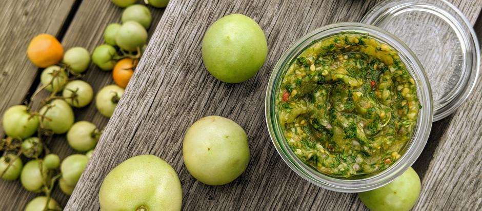 Salsa ze zelených rajčat