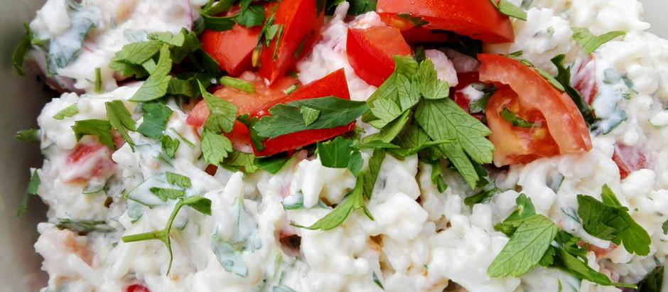 Rýžový salát s rajčaty