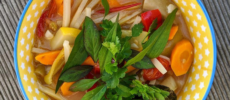 Zelené zeleninové kari