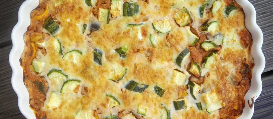 Zeleninový koláč s chia