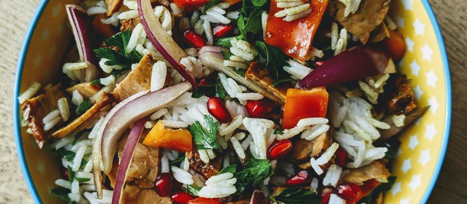 Rýžový salát s tempehem