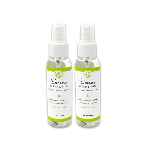 Hand Sanitizer Spray, Coconut Lime, 2-pack