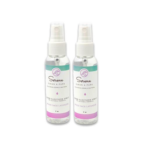 Hand Sanitizer Spray, White Sage and Lavender, 2-pack