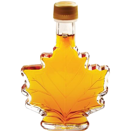 Decorative Glass Maple Syrup - Maple Leaf