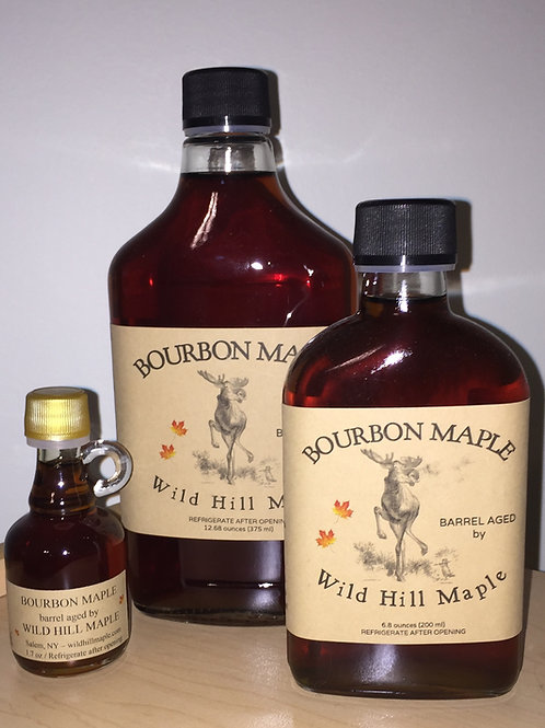 Bourbon Barrel Aged Maple Syrup Flask 375 ml