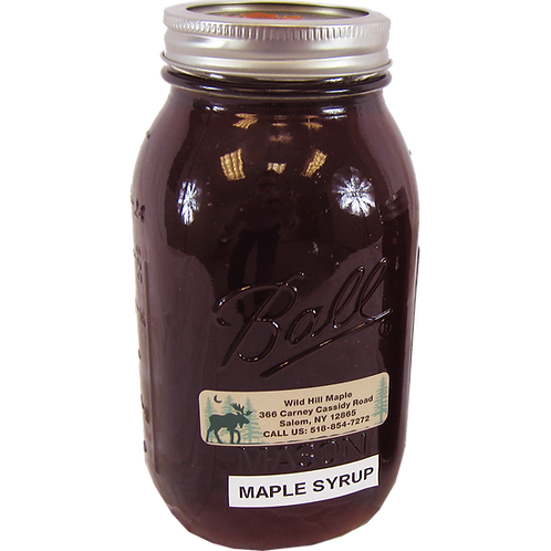 Maple Syrup Mason Jar - Quart
