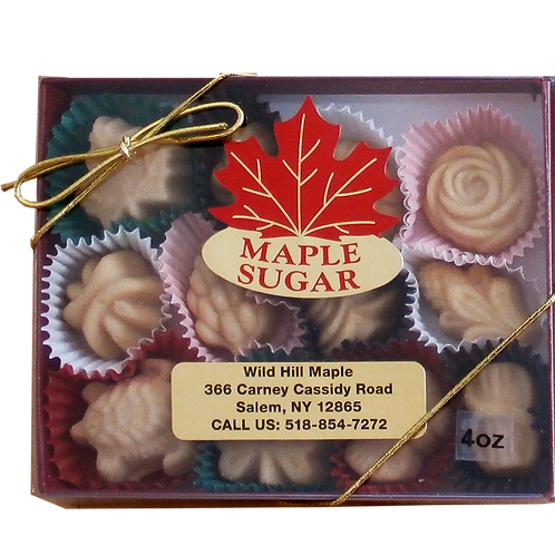 Maple Syrup Candy - Assorted Shapes (4 oz.) 12 pc