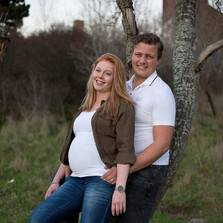 zwangerschapsfotografie samen tegen een