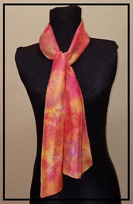 Sunset Red Habotai Scarf