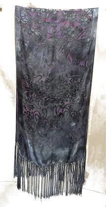 Gray Nouveau with Silk Fringe