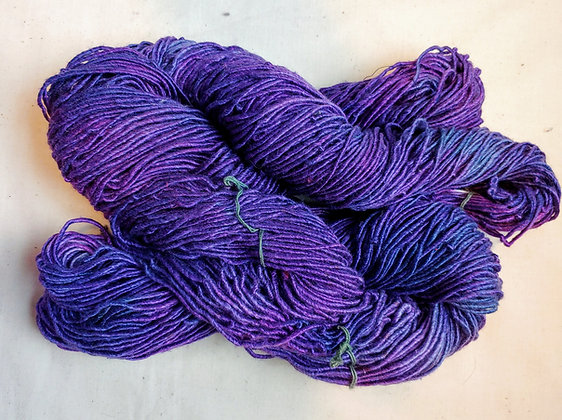 Two Royal Purple Silk Yarn